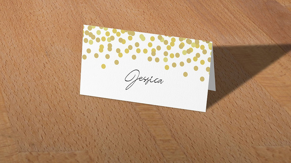 Confetti Place Cards With Names Printed