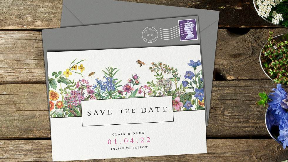 Spring Save The Date Cards With Envelopes