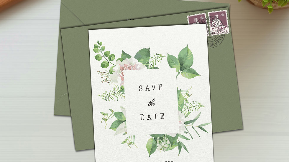 Burst Save The Date Cards With Envelopes