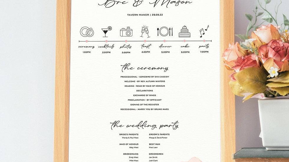 Whimsical Wedding Program Sign