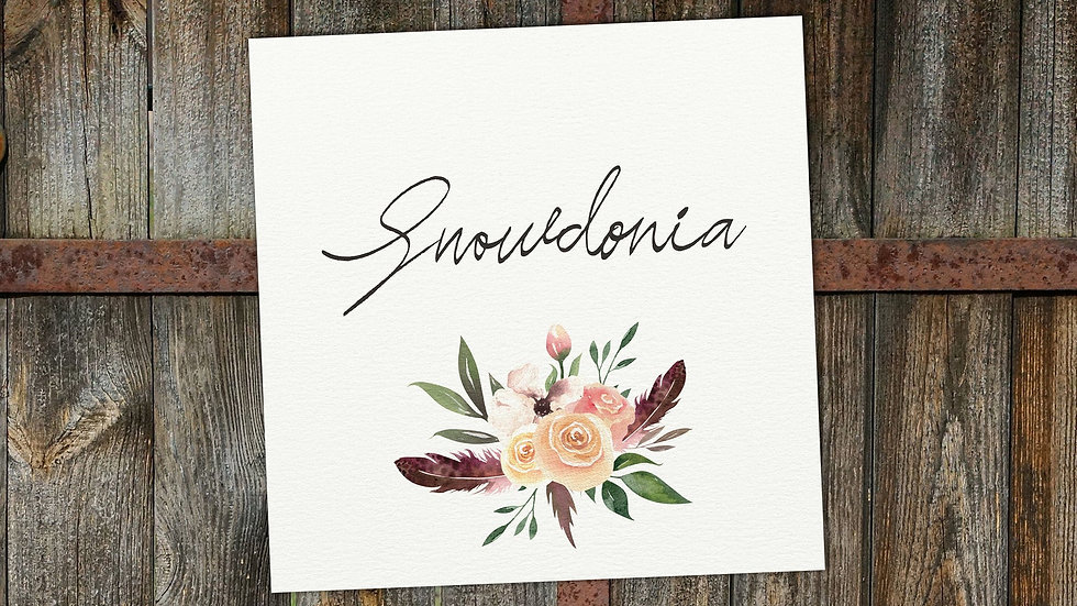 Rustic Floral Table Name Cards