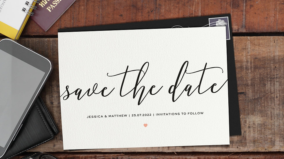 Script Save The Date Cards With Envelopes