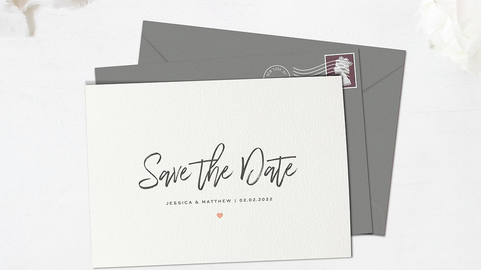 Simple Save The Date Cards With Envelopes