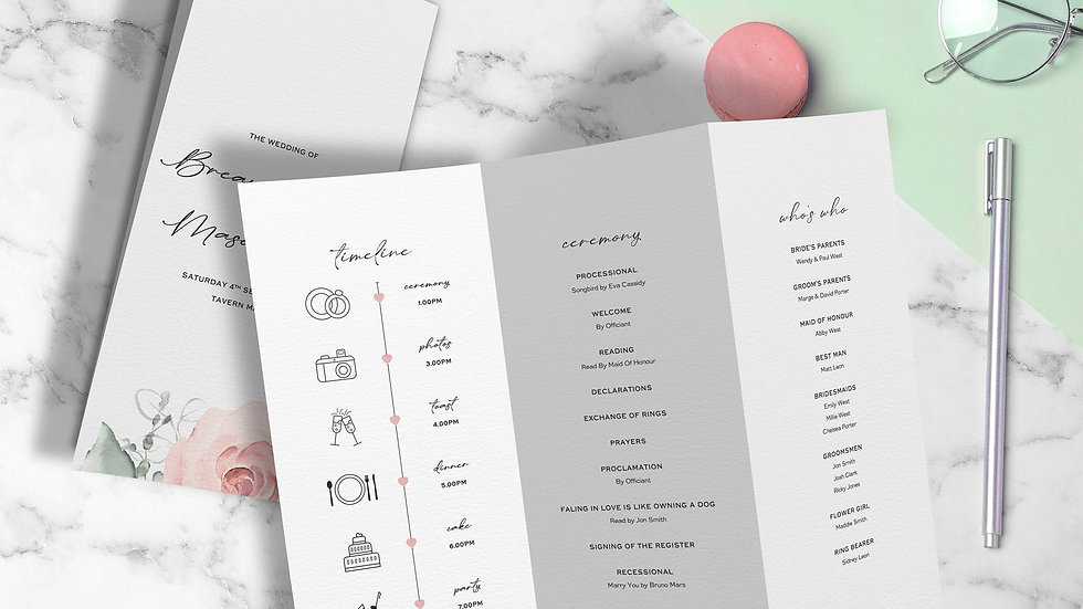 Whimsical Ceremony Programs
