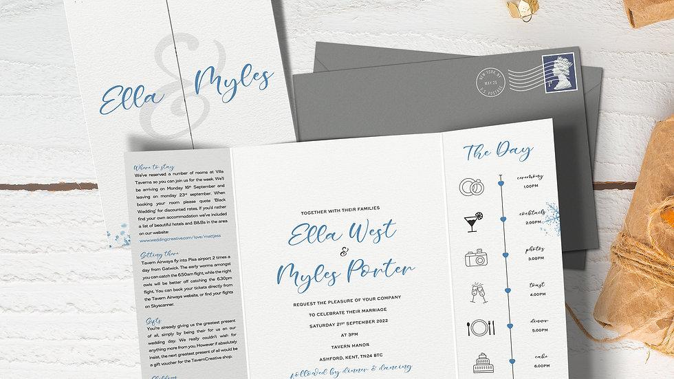 Winter Gatefold Wedding Invitations With Envelopes