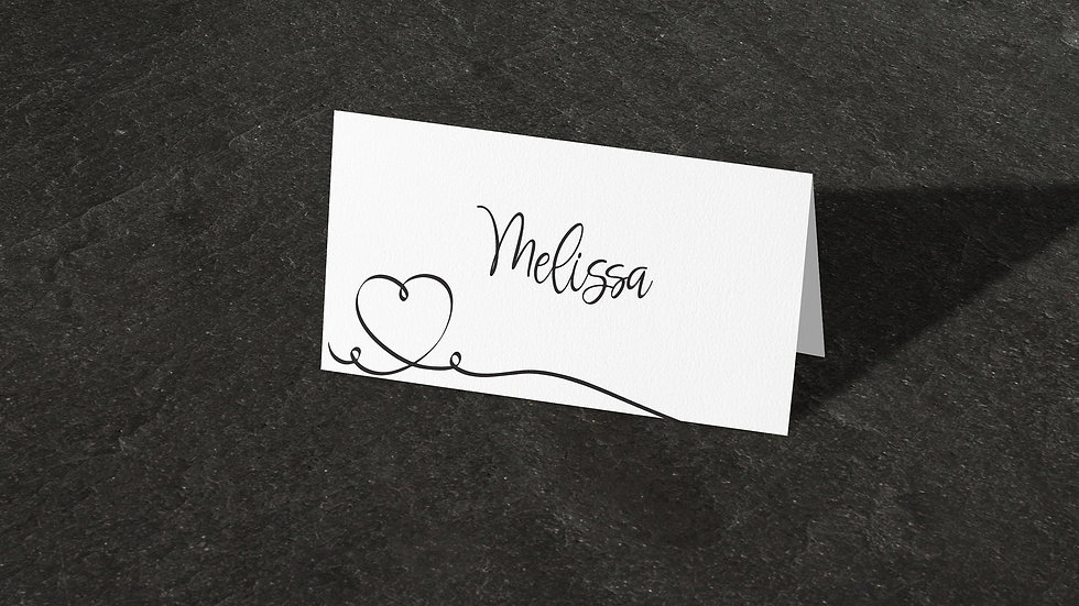 Calligraphy Place Cards With Names Printed