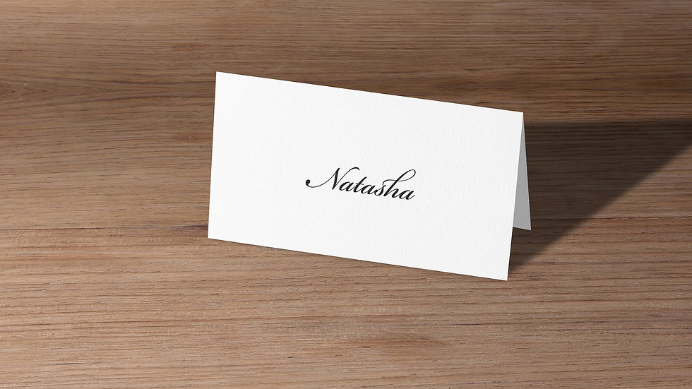 'One' Place Cards With Names Printed