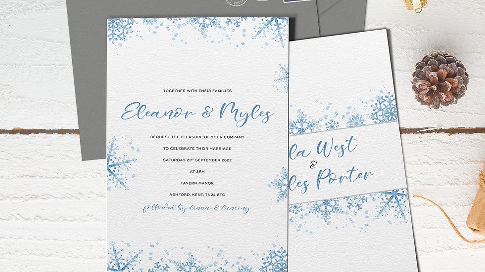 "Winter 7x5""Wedding Invitations With Envelopes"