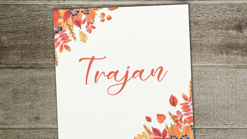 Autumn Fall Table Name Cards