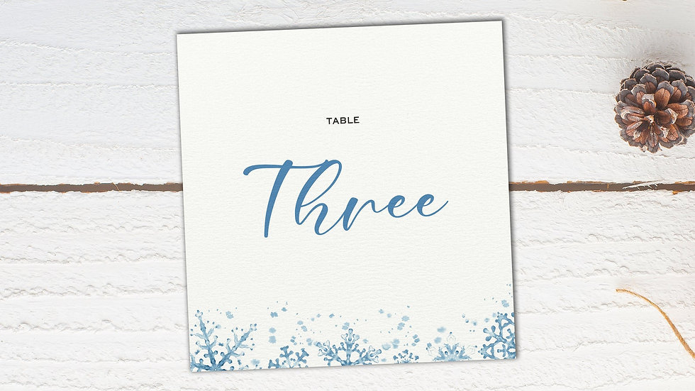 Winter Table Name Cards
