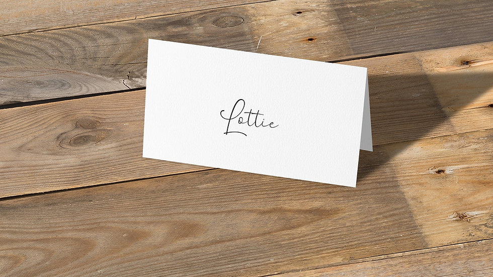 Photo Booth Place Cards With Names Printed