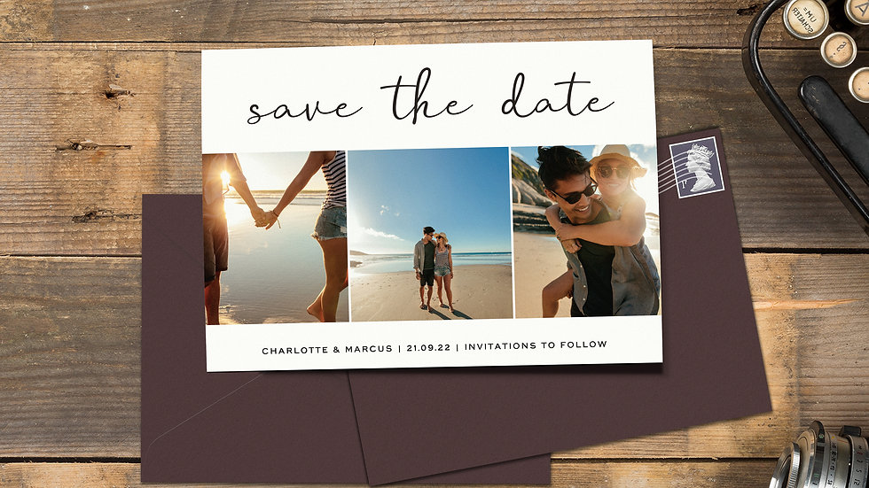 Photo Booth Save The Date Cards With Envelopes