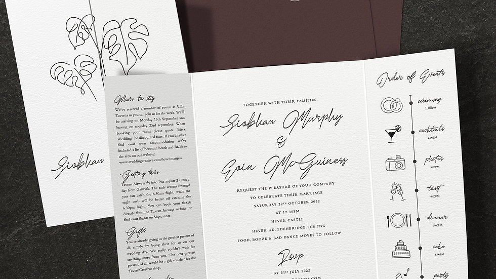 Beach Gatefold Wedding Invitations With Envelopes