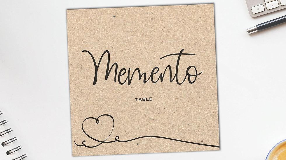 Kraft Table Name Cards