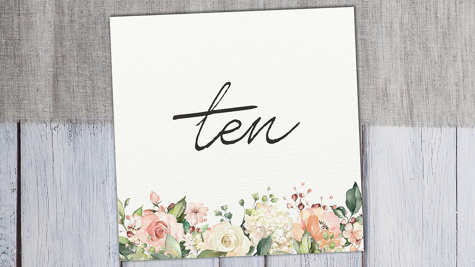 Blush Floral Table Name Cards