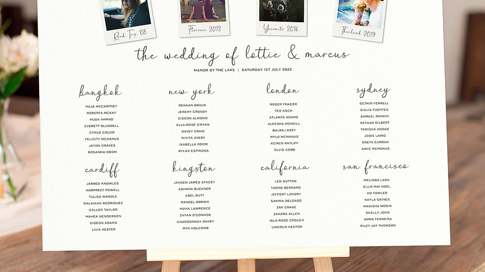 Photo Booth Table Plan