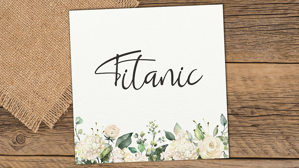 White Roses Table Name Cards