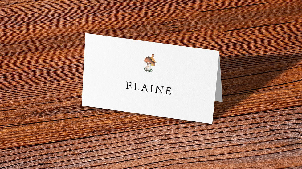 Woodland Place Cards With Names Printed