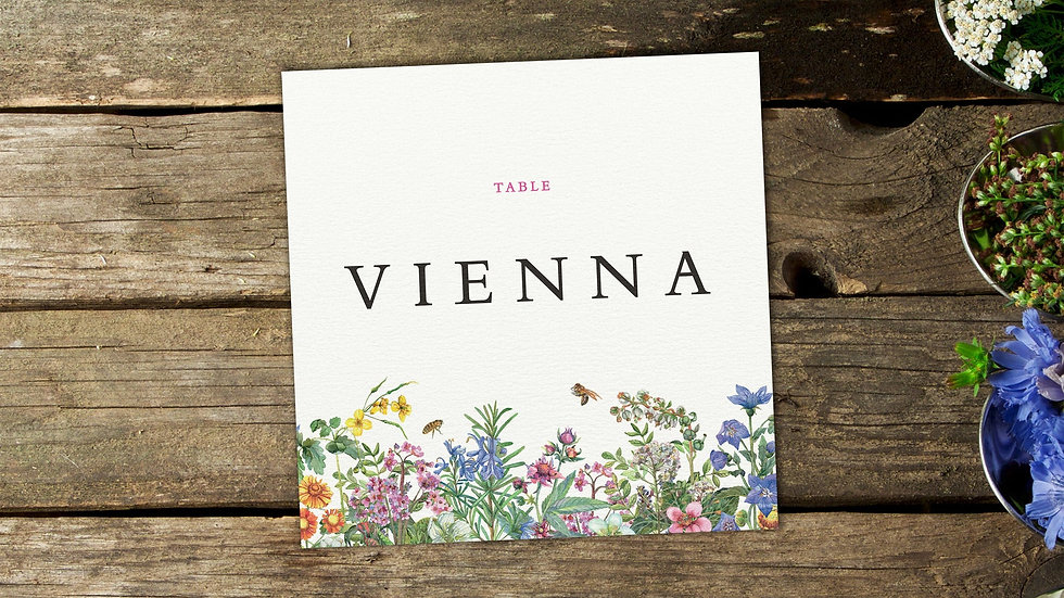 Spring Table Name Cards