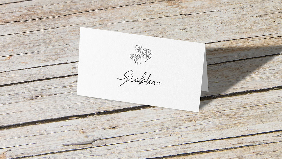 Beach Place Cards With Names Printed