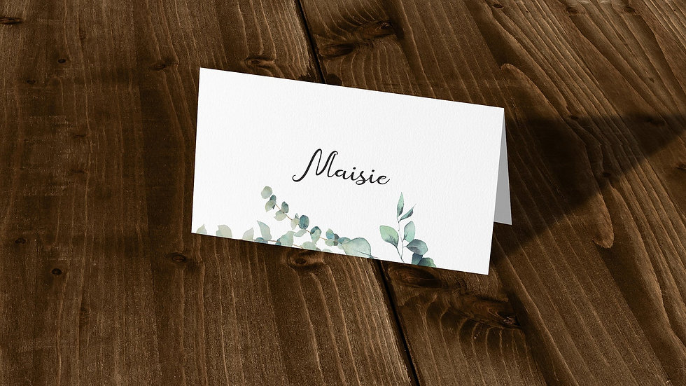 Olive Place Cards With Names Printed