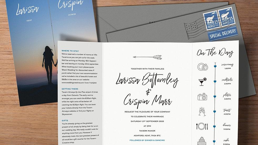 Photo Gatefold Wedding Invitations With Envelopes