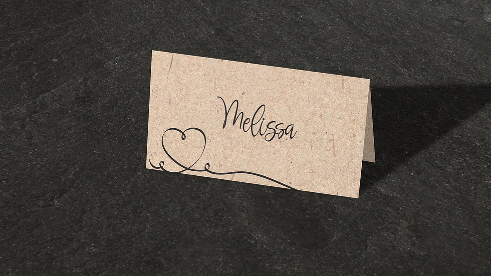 Kraft Place Cards With Names Printed