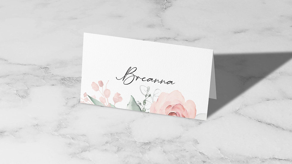 Whimsical Place Cards With Names Printed