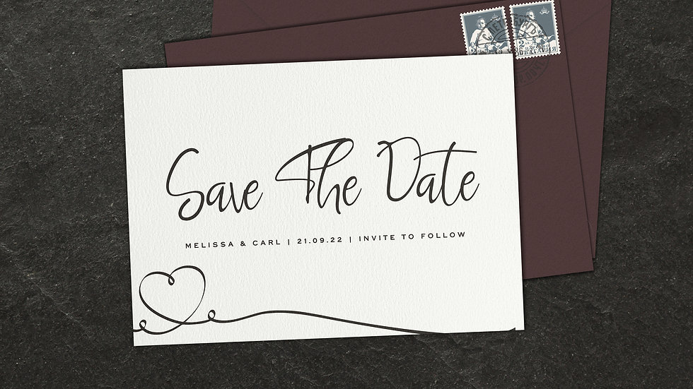 Calligraphy Save The Date Cards With Envelopes