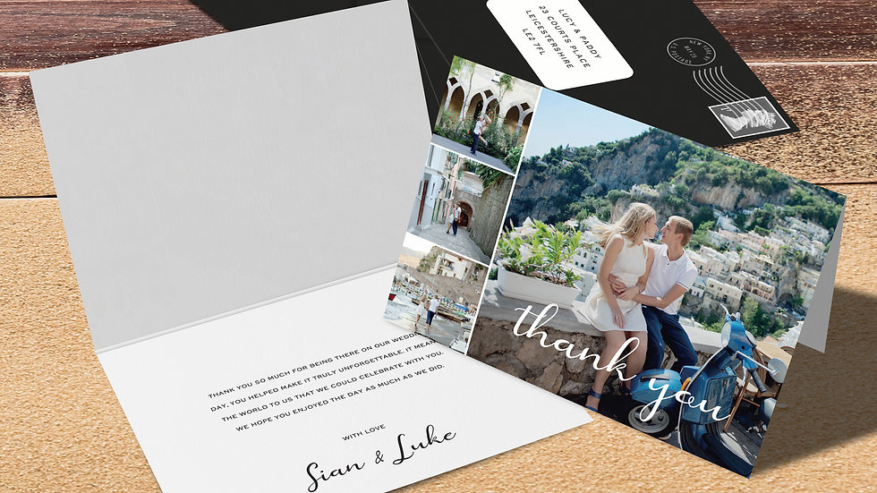 Destination Folded Thank You Cards With Envelopes