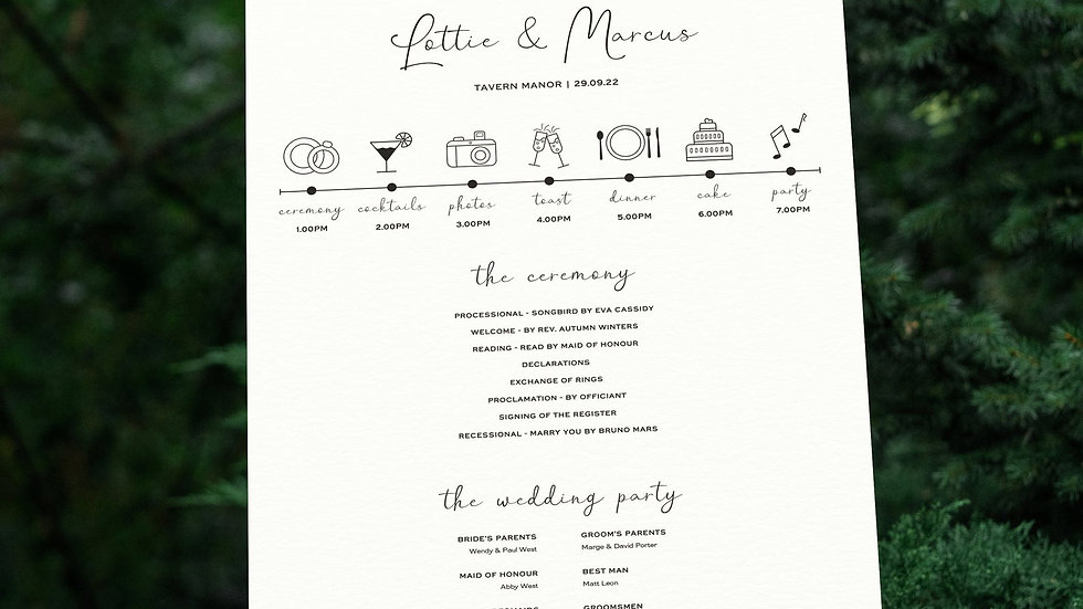 Photo Booth Wedding Program Sign