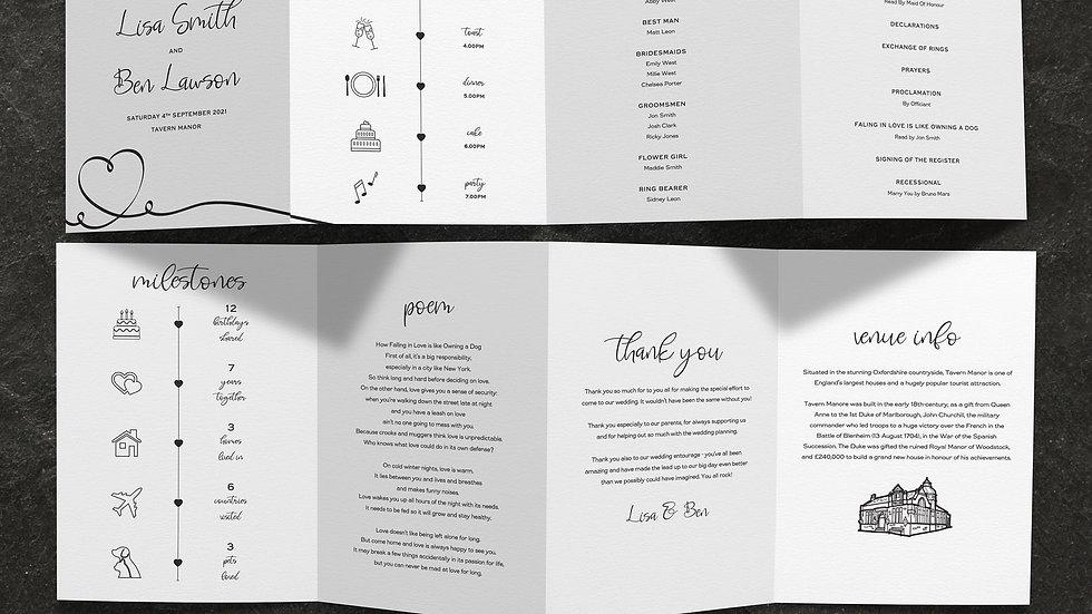 Calligraphy Tri Fold Program