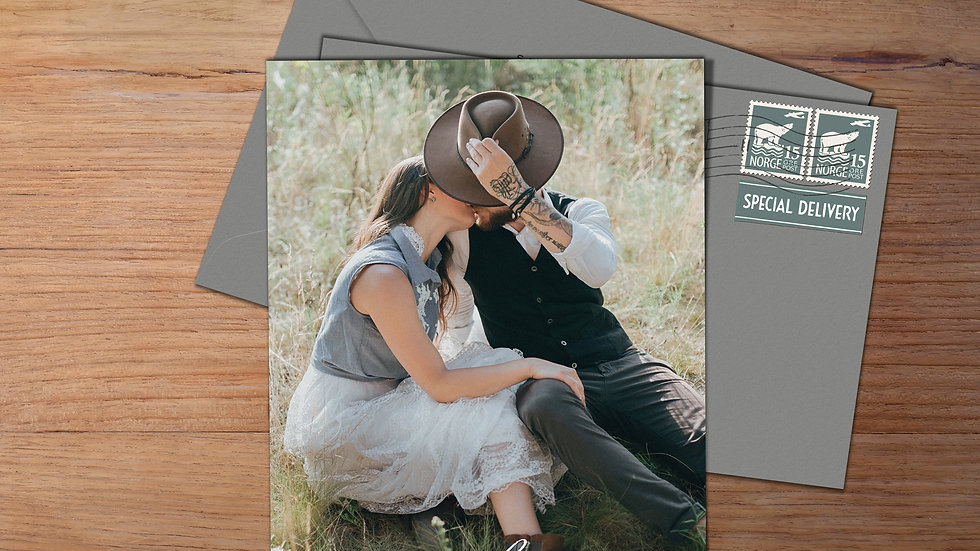 One Photo Save The Date Cards With Envelopes