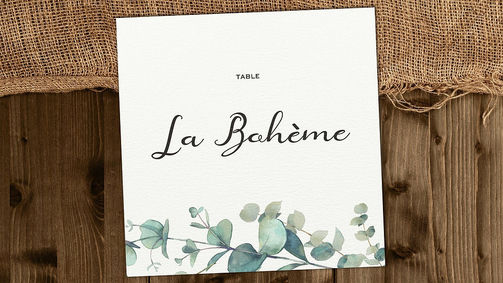 Olive Table Name Cards