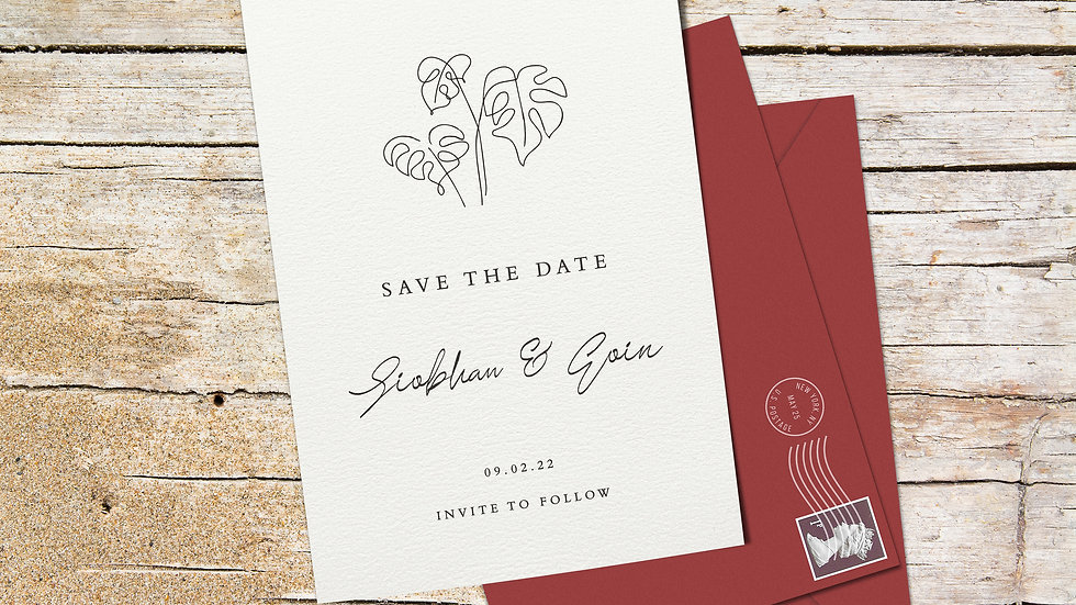Beach Save The Date Cards With Envelopes