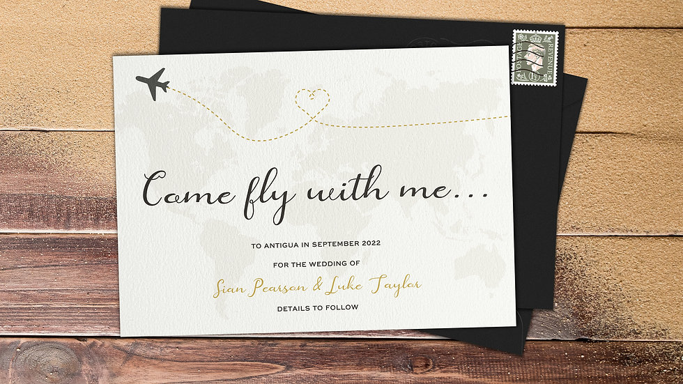 Destination Save The Date Cards With Envelopes