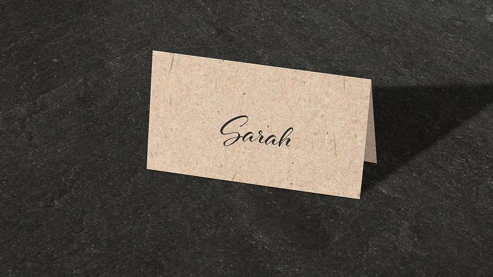 Kraft Lights Place Cards With Names Printed