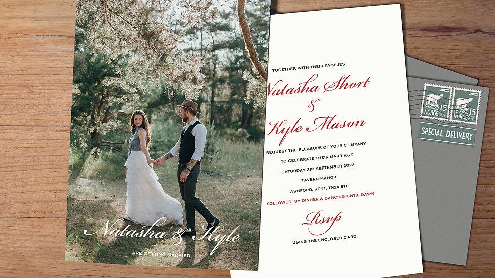"Photo 7x5""Wedding Invitations With Envelopes"
