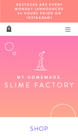 Kunst & Design website templates – Slime Store