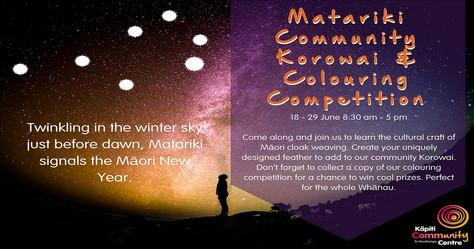 Matariki Community Korowai & Colouring Competition