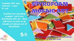 Styrofoam Mosaic Art - 17 July