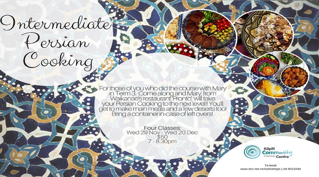 Wed 29 Nov - Persian Cooking Inter