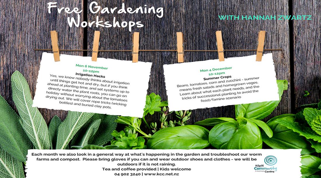 1st Mon/Month - Gardening Workshop