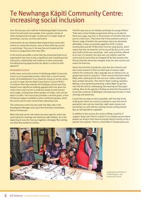 Increasing Social Inclusion