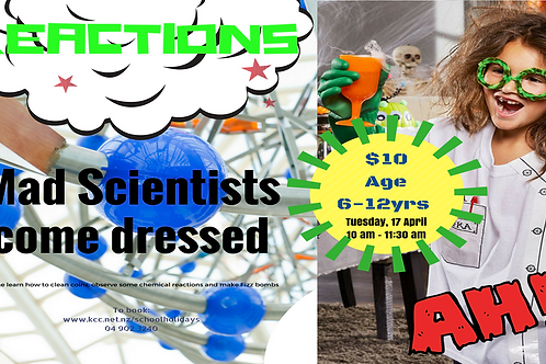 Reactions and Mad Scientist Workshop