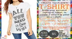 Teen T-Shirt Making - 12 July
