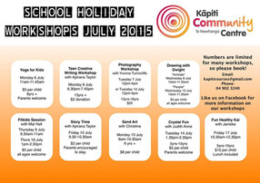 Bookings coming in thick and fast for our school holiday workshops!