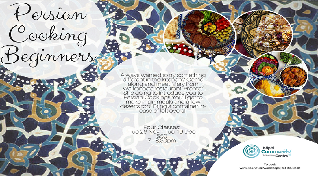 Tue 28 Nov-Beginner Persian Cooking