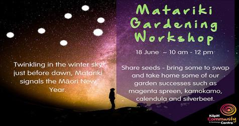 Matariki Gardening Workshop
