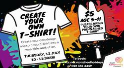 Kidz T-Shirt Making - 12 July